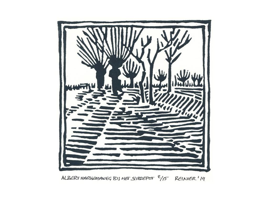 Houtsnede-A-Harkemaweg-bij-het-slibdepot