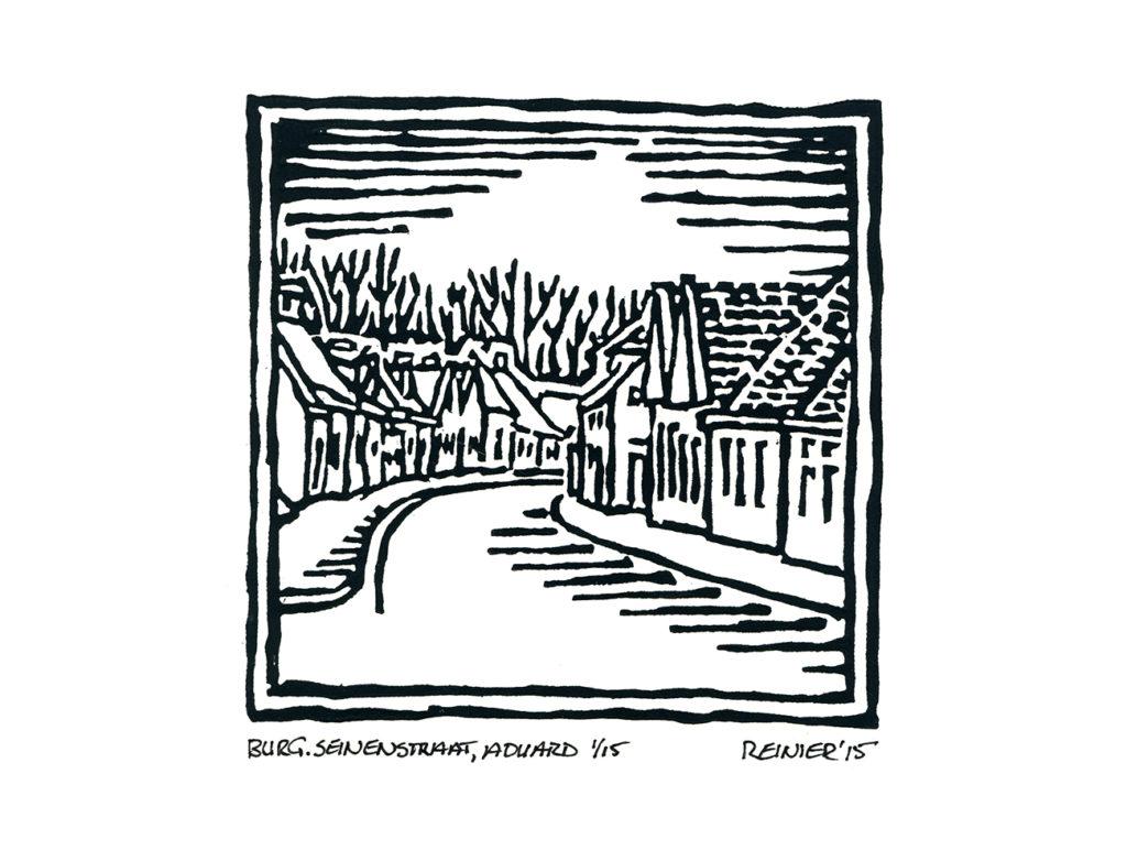 Houtsnede-Burg-Seinenstraat