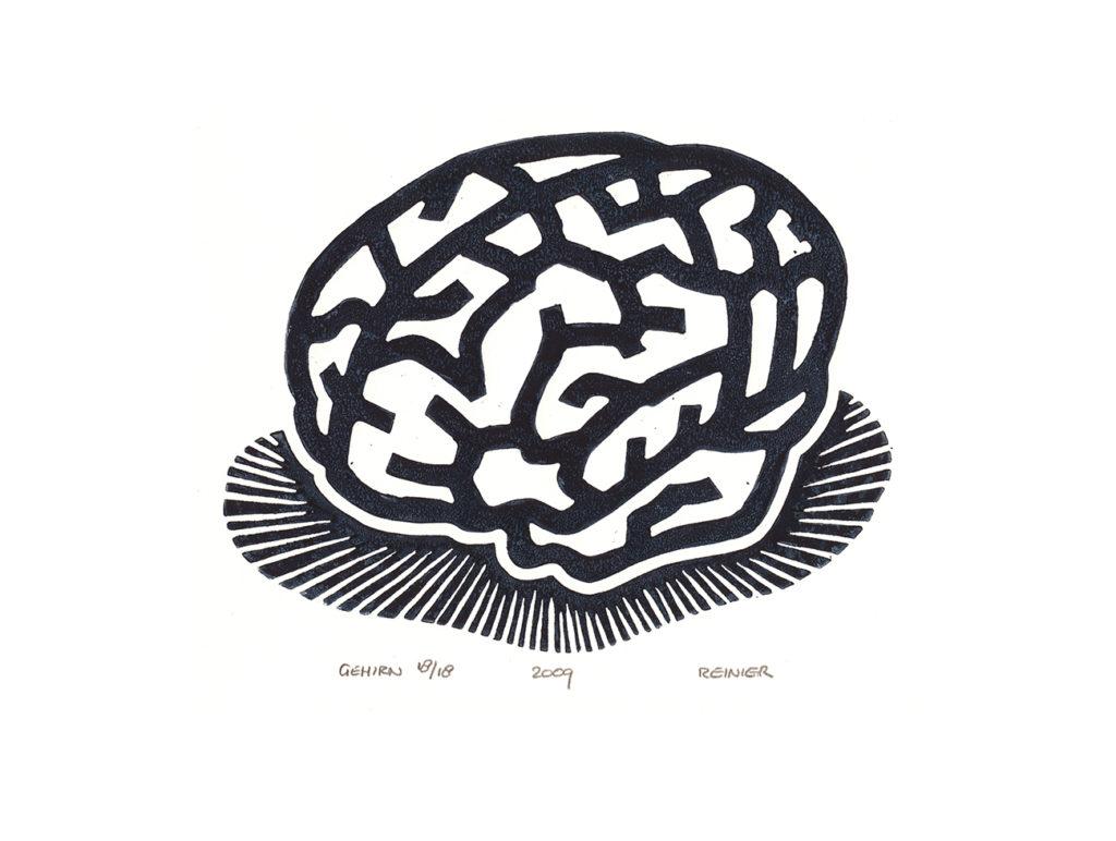 Houtsnede-Gehirn