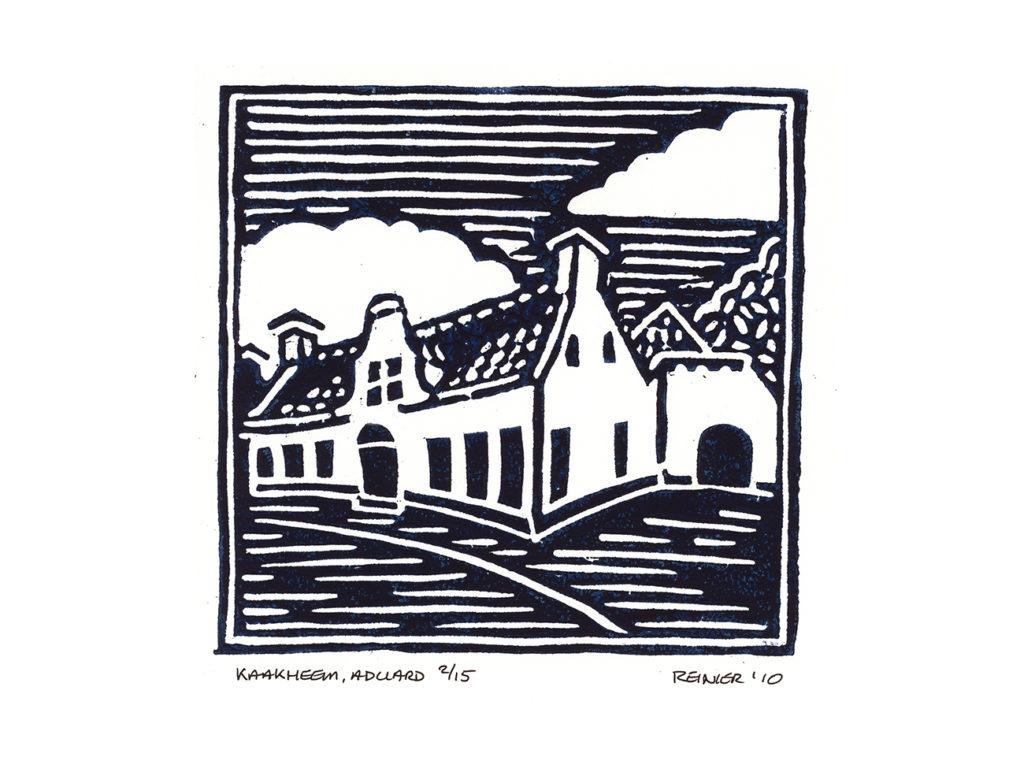 Houtsnede-Kaakheem-Aduard