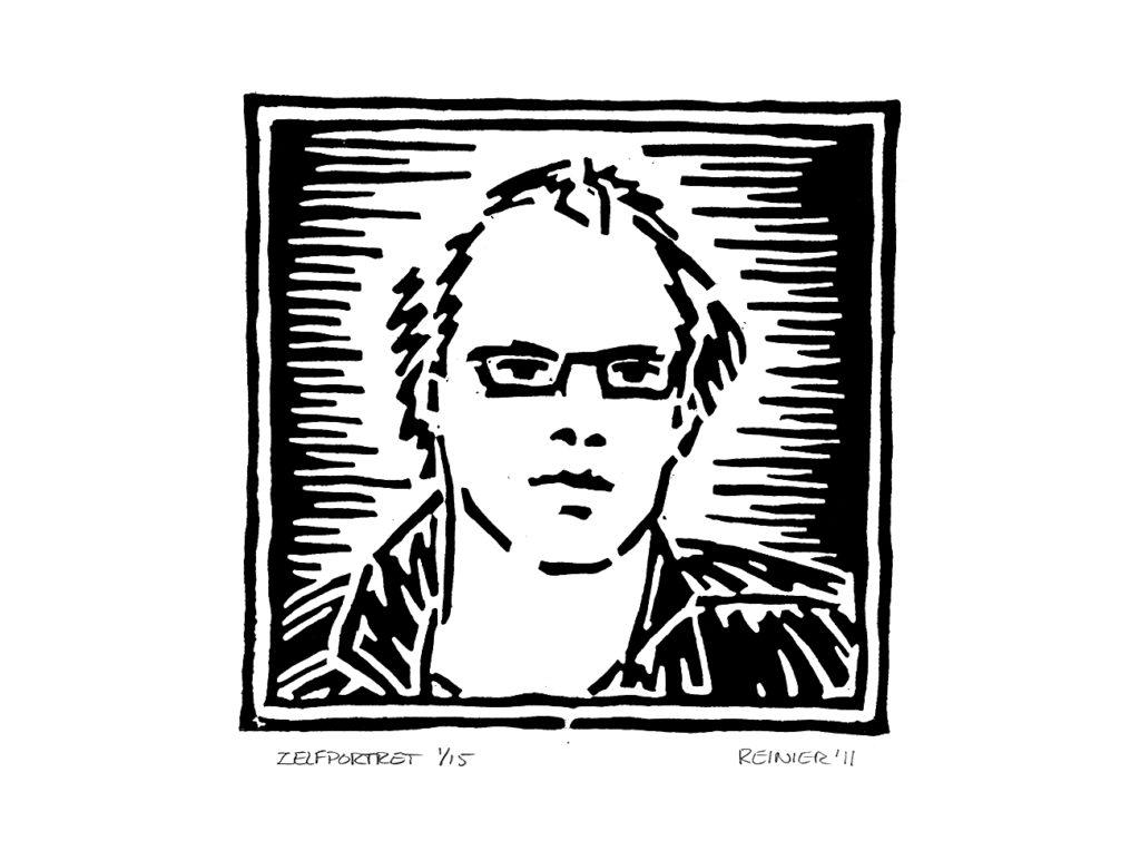 Houtsnede-Zelfportret